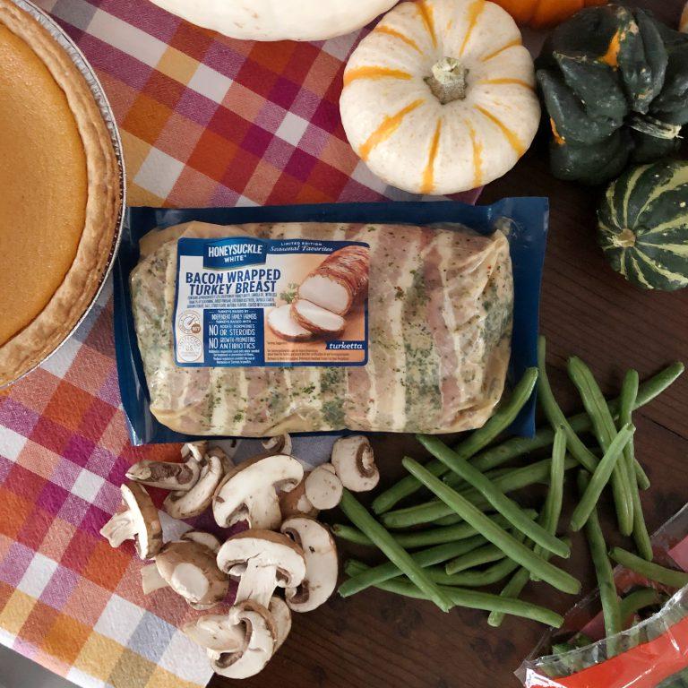 honeysuckle bacon wrapped turkey breast