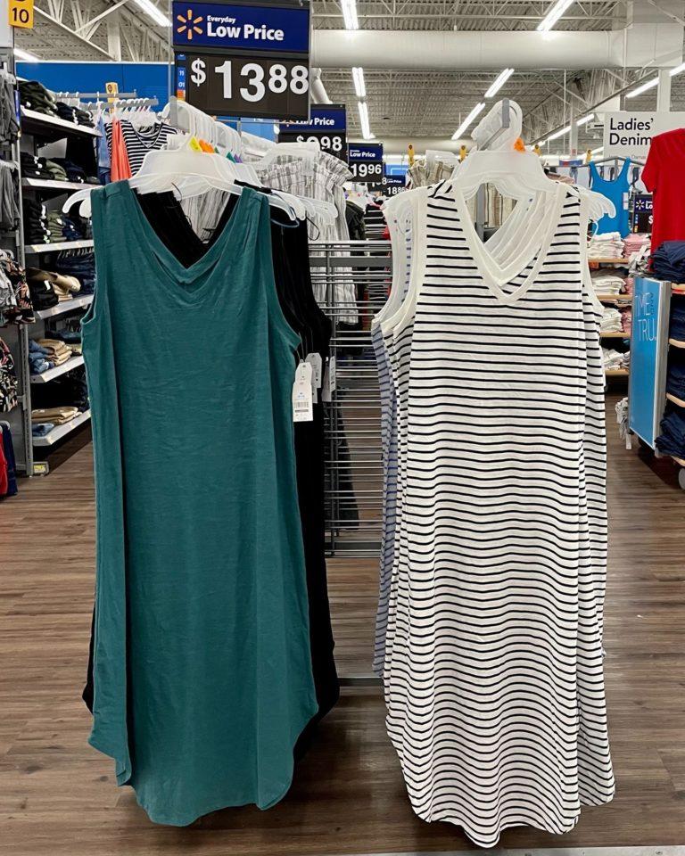 Double V-Neck And Shirttail Hem Dress