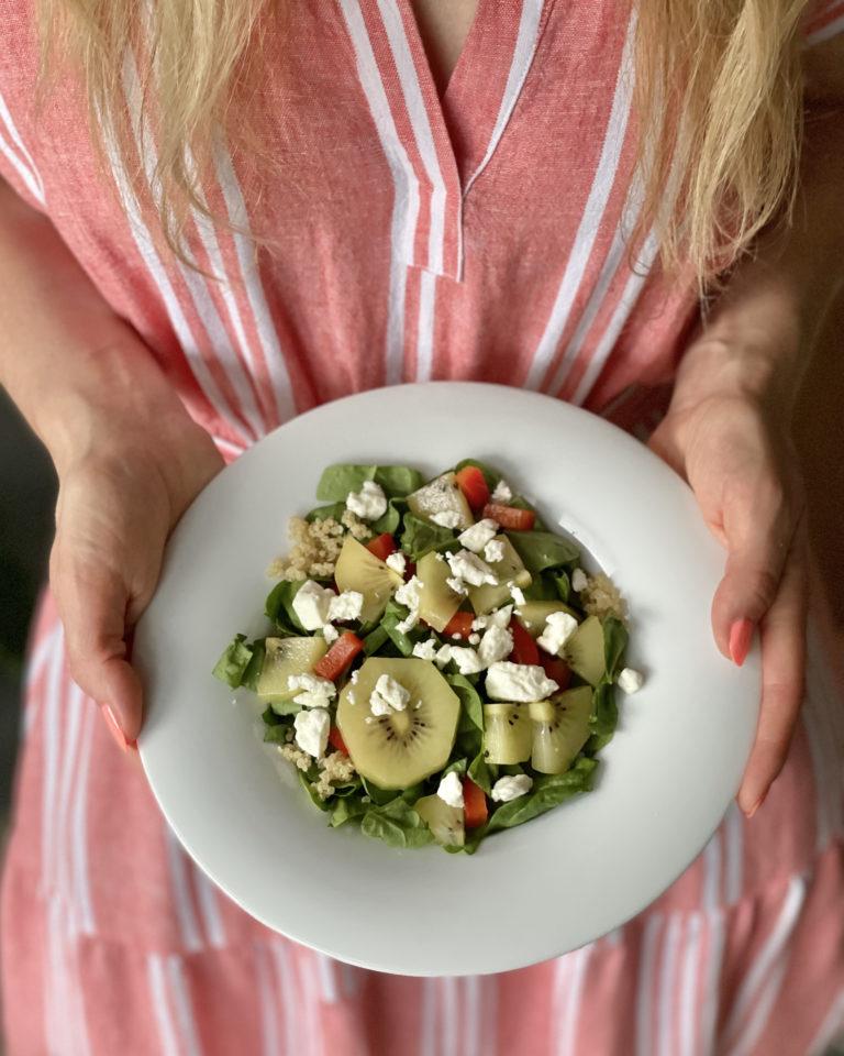 Tasty Summer Salad with Kiwi & Feta